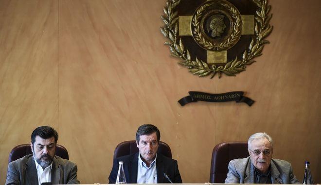 Έκτακτη συνεδρίαση του δημοτικου συμβουλίου του Αθήνα 9,84 εξαιτίας της δέσμευσης των τραπεζικών λογαριασμών του ραδιοφωνικού σταθμού, Δευτέρα 187/12/2017.  (EUROKINISSI/ΤΑΤΙΑΝΑ ΜΠΟΛΑΡΗ)