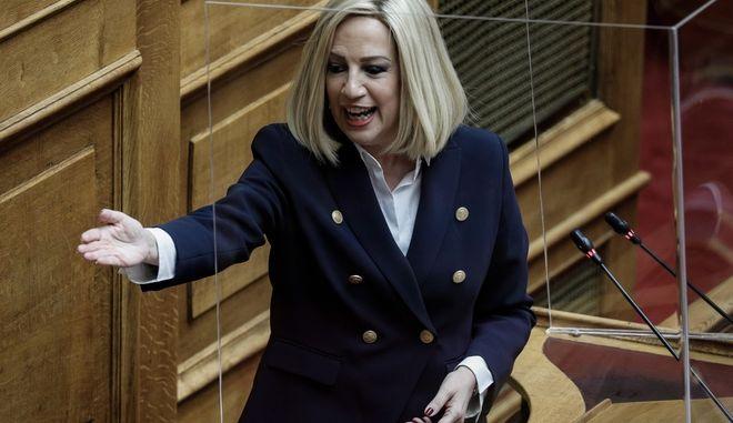 """""""Ώρα του Πρωθυπουργού"""" στην Βουλή την Παρασκευή 3 Ιουλίου 2020. Ο Πρωθυπουργός Κυριάκος Μητσοτάκης,  απάντησε σε ερώτηση της επικεφαλής του Κινήματος Αλλαγής Φώφης Γεννηματά για την οικονομία και την εργασία.  (EUROKINISSI/ΓΙΩΡΓΟΣ ΚΟΝΤΑΡΙΝΗΣ)"""