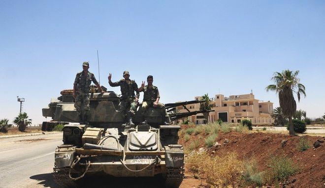 Ο στρατός κατέλαβε την Ντεράα απ' όπου ξεκίνησε ο εμφύλιος