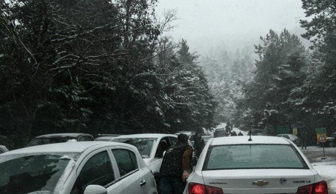 Χιονόπτωση στην Πάρνηθα