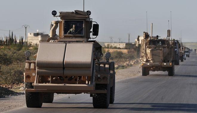 Αμερικανικά στρατεύματα στην Μανμπίτζ της Συρίας