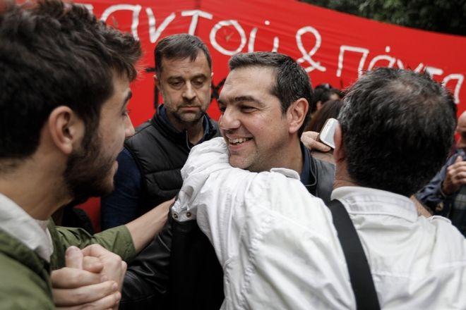 Ο Αλέξης Τσίπρας στην προσυγκέντρωση για την επέτειο του Πολυτεχνείου