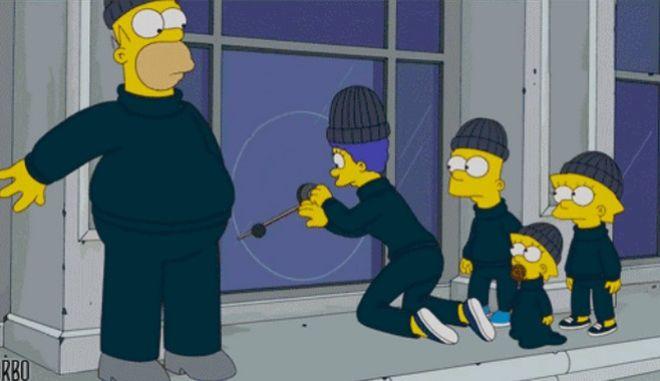 Η ΕΛ.ΑΣ. επιστρατεύει τους Simpsons για να μας σώσει απ' τους διαρρήκτες