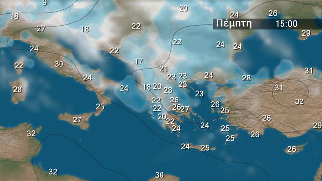 Η εξέλιξη των βροχοπτώσεων στην περιοχή των Βαλκανίων