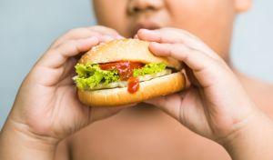 Παιδί που τρώει junk food.