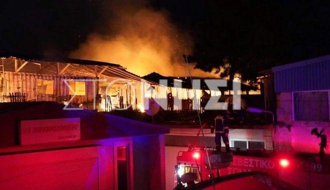 Φωτιά σε δομή φιλοξενίας στο Καρά Τεπέ