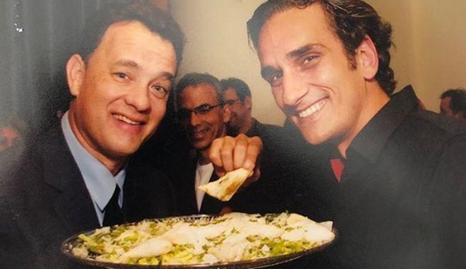 Νίκος Ψαρράς: Όταν έτρωγε σπανακόπιτα με τον Τομ Χανκς στο Χόλιγουντ