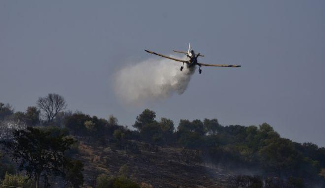 Φωτιά εκδηλώθηκε σε αγροτοδασική δασική έκταση στο  Κουτσοπόδι Αργολίδας.