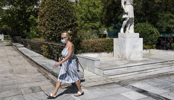 Εικόνα από την Αθήνα τον Αύγουστο του 2020
