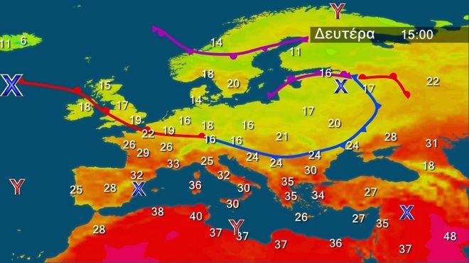 Περαιτέρω άνοδος της θερμοκρασίας την Δευτέρα