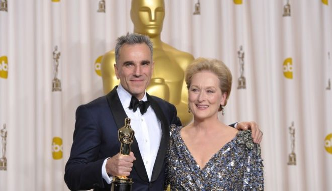 """Μέριλ Στριπ και Ντάνιελ Ντέι Λιούις συγκαταλέγονται στους """"κορυφαίους"""" των Όσκαρ"""
