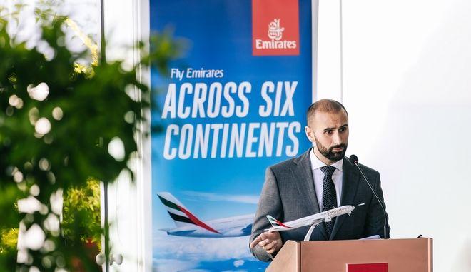O Khalid Al Zarooni, Διευθυντής της Emirates για την Ελλάδα και την Αλβανία