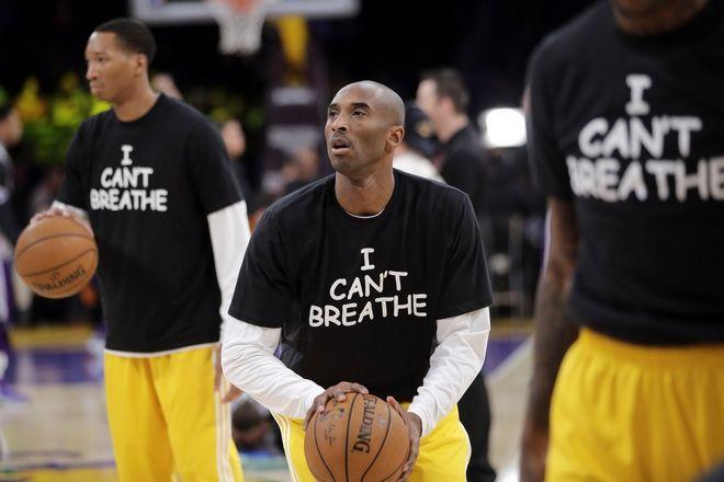 Κόμπι ο ακτιβιστής Με μπλουζάκι Ι cant breathe είχε διαμαρτυρηθεί για την αστυνομική βία