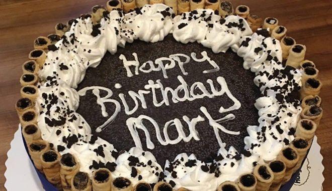 Η τούρτα για τον Μαρκ Ζίμερμαν