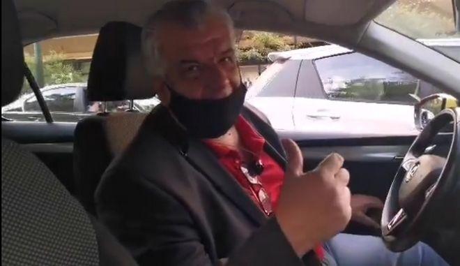 Οδηγός σε απόγνωση στο κέντρο της Αθήνας