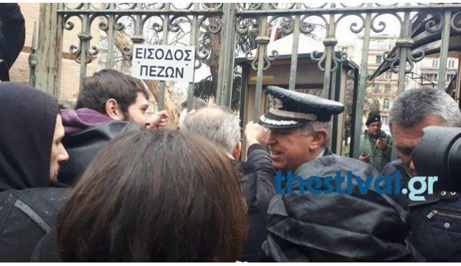 Θεσσαλονίκη: Ένταση έξω από το υπουργείο στην πορεία κατά των πλειστηριασμών