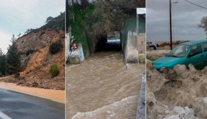 27 διασώσεις από σπίτια και αυτοκίνητα στην Κρήτη - Συνεχίζονται οι έρευνες για τον αγνοούμενο