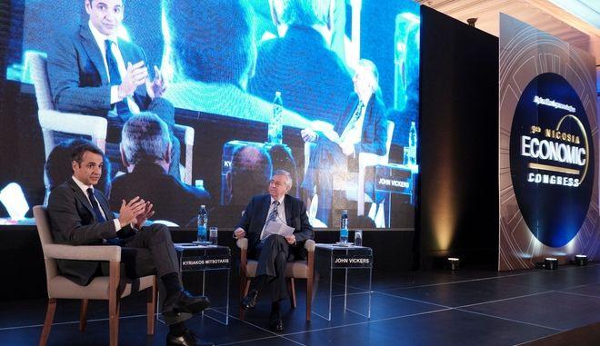 Ο πρόεδρος της ΝΔ Κυριάκος Μητσοτάκης στο 9ο Οικονομικό Συνέδριο της Λευκωσίας