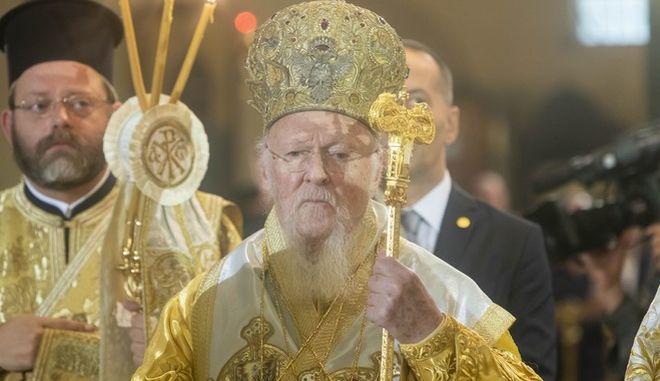Ο οικουμενικός πατριάρχης.
