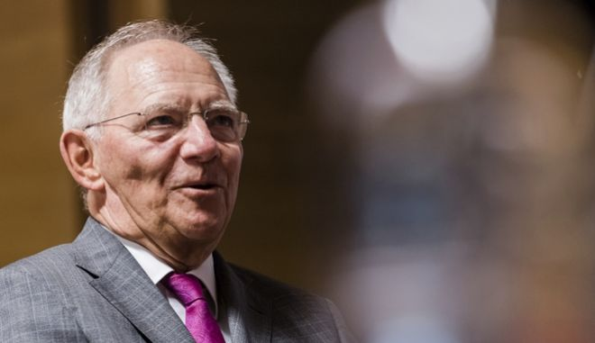 German Finance Minister Wolfgang Schaeuble attends a meeting of EU finance ministers at the EU Council building in Luxembourg on Friday, June 16, 2017. Greece has avoided another potential brush with bankruptcy after striking a deal with European creditors to tide it over for the rest of the year. (AP Photo/Geert Vanden Wijngaert)
