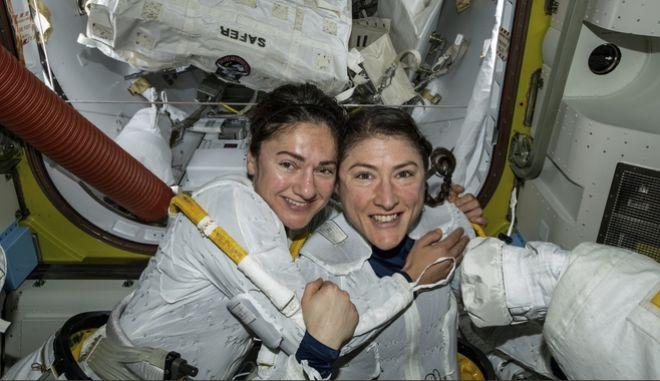 Η Jessica Meir και η Christina Koch