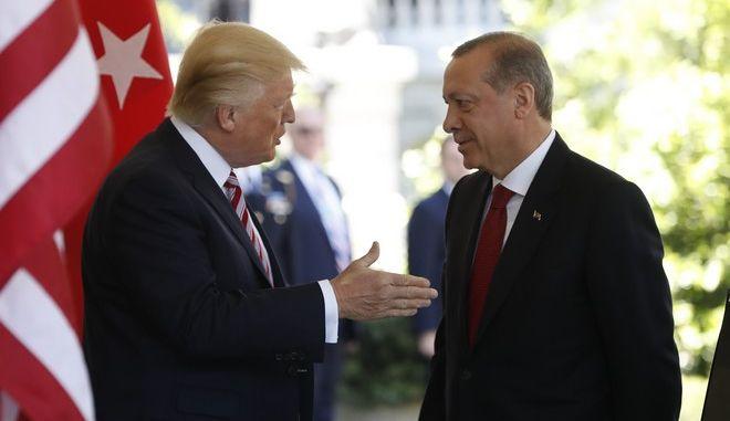 Ντόναλντ Τραμπ και Ρετζέπ Ταγίπ Ερντογάν