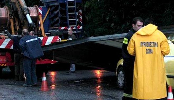 Καθίζηση υπέστη η οδός Φιλολάου στο Παγκράτι λόγω βροχόπτωσης