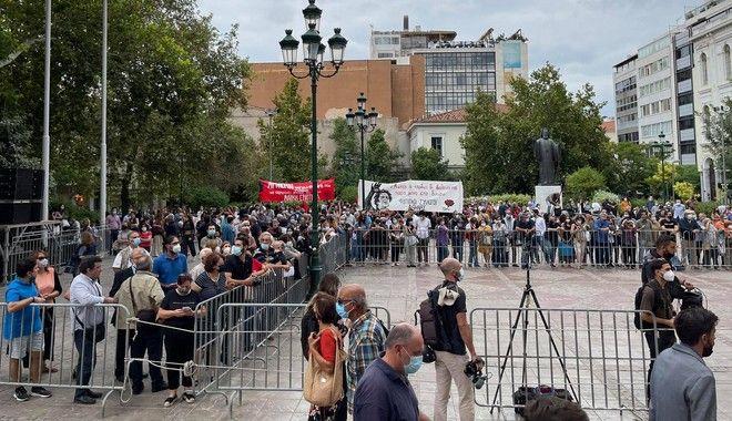 Η Ελλάδα αποχαιρετά τον Μίκη Θεοδωράκη πριν το τελευταίο ταξίδι στον Γαλατά Χανίων - LIVE EIKONA