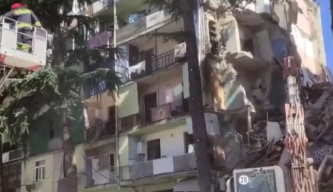 Κατάρρευση κτιρίου στο Μπατούμι