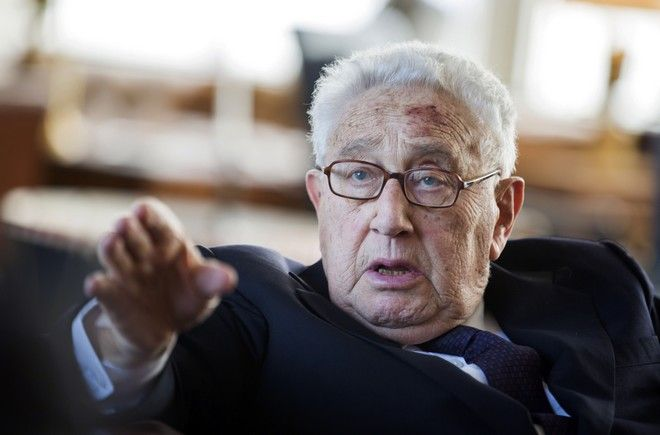 "FILE - In this June 11, 2013, file photo, former Secretary of State Henry Kissinger gestures during a birthday reception for his 90th birthday in Berlin, Germany. Kissinger has undergone an aortic valve replacement procedure at a hospital in New York. New York-Presbyterian Hospital in Manhattan released a statement saying the 91-year-old ex-diplomat was ""resting comfortably"" following the procedure on Tuesday, July 15, 2014. (AP Photo/Gero Breloer, Pool, File)"