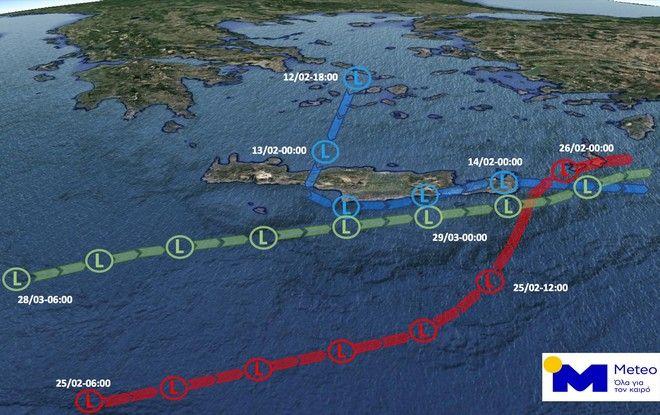 Στο έλεος τριών ισχυρών κακοκαιριών μέσα σε 45 ημέρες η Κρήτη