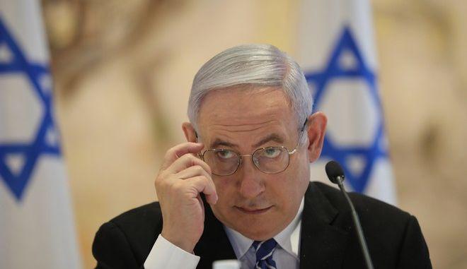 Ο πρωθυπουργός Μπενιαμίν Νετανιάχου (Abir Sultan/Pool Photo via AP)