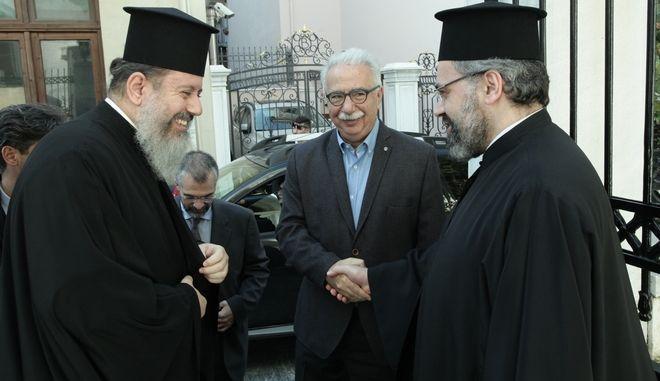 Ο Υπουργός Παιδείας σε ανάλογη συνάντηση στην Αρχιεπισκοπή Αθηνών