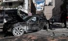 Τροχαίο ατύχημα επί της οδού Λιοσίων στην Αθήνα.