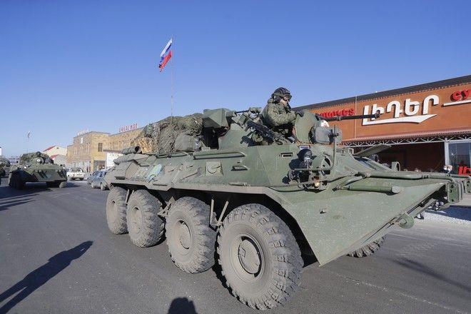 Ρωσικά στρατεύματα εισέρχονται στο Ναγκόρνο Καραμπάχ