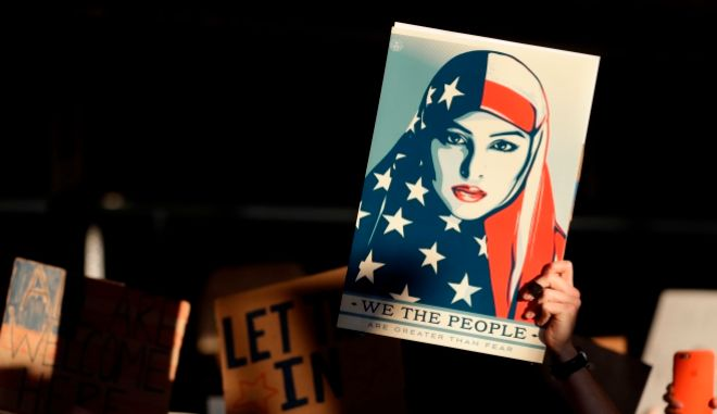 Η Μουσουλμάνα που έγινε σύμβολο της αντίστασης κατά του Τραμπ
