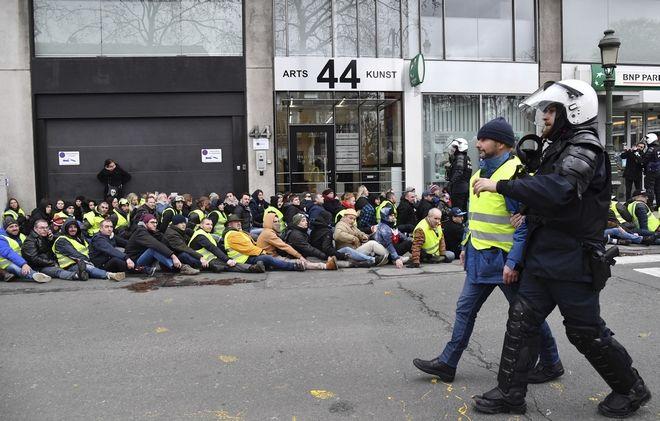 Μαζικές συλλήψεις στις Βρυξέλλες