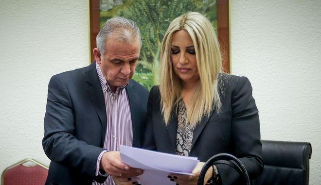 Ο Μανόλης Όθωνας με την πρόεδρο του ΚΙΝΑΛ Φώφη Γεννηματά