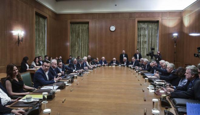 Συνεδρίαση του  υπουργικού συμβουλίου υπό τον Αλέξη Τσίπρα - Φωτογραφία αρχείου