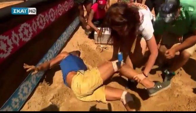 Survivor 2: Ο Θεοδωρόπουλος τραυματίστηκε σοβαρά στο αγώνισμα - Μεταφέρθηκε στο νοσοκομείο