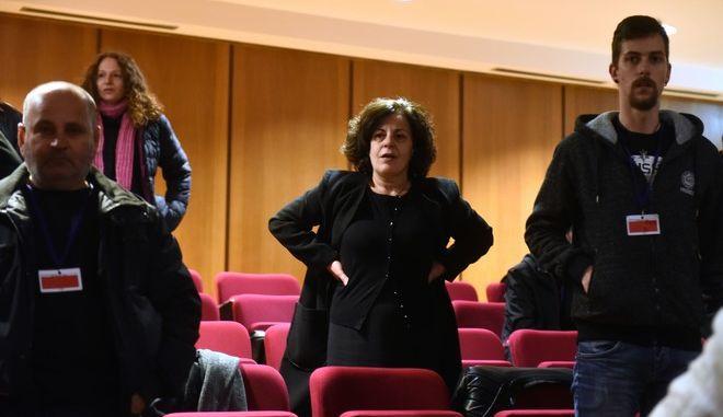 Η Μάγδα Φύσσα σε μία από τις συνεδριάσεις της δίκης της Χρυσής Αυγής