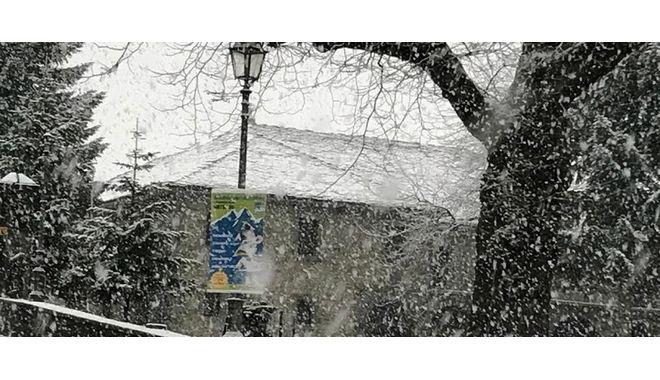 Στα λευκά η Ήπειρος - Σφοδρές χιονοπτώσεις στα ορεινά