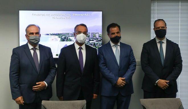 Yπεγράφη σήμερα η σύμβαση μεταβίβασης του συνόλου των μετοχών της «Ελληνικό Α.Ε.» στην HELLINIKON GLOBAL I S.A., θυγατρική της Lamda Development.
