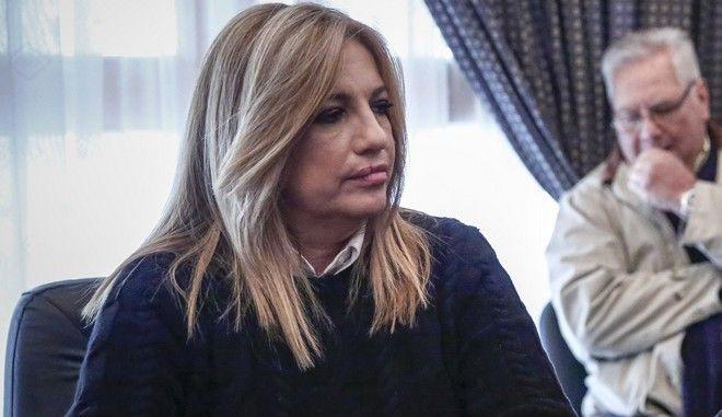 Επίσκεψη της προοέδρου του ΠΑΣΟΚ και επικεφαλής της Δημοκρατικής Συμπαράταξης Φώφης Γεννηματά στην Μάνδρα την Τετάρτη 20 Δεκεμβρίου 2017. (EUROKINISSI/ΣΤΕΛΙΟΣ ΜΙΣΙΝΑΣ)