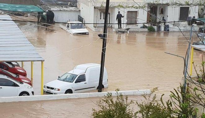 Καταστροφές από τη θεομηνία στην Κρήτη