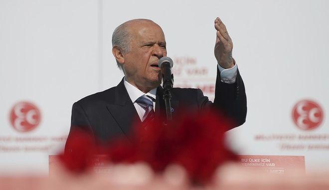 Ο Ντεβλέτ Μπαχτσελί, ηγέτης του Εθνικού Κόμματος της Τουρκίας