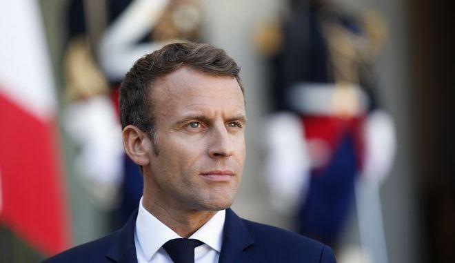 Ο Γάλλος πρόεδρος Εμανουέλ Μακρόν στο Ελιζέ