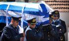 Κηδεία του Σμηναγού Γιώργου Μπαλταδώρου στο Μορφοβούνι Καρδίτσας. Σάββατο 14 Απριλίου 2018  (EUROKINISSI/ ΘΑΝΑΣΗΣ ΚΑΛΛΙΑΡΑΣ)
