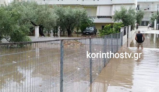 Ιανός: Πλημμύρες και προβλήματα στην Κόρινθο από την κακοκαιρία