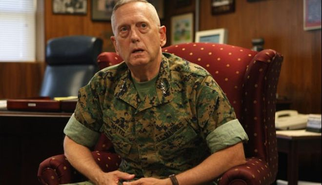 "Lt. Gen. James Mattis in his office at Camp Pendleton Tuesday during an interview. <br><small><B>BILL WECHTER </B> Staff Photographer</small>  <br><A HREF=""https://secure.townnews.com/nctimes.com/forms/photo_services/linkorder.php?des=      bill wechter/Lt. Gen. James Mattis in his office at Camp Pendleton Tuesday during an interview."" target=""new"">Order a copy of this photo</A> <!-- <br><A HREF="" "">More of this story</A> -->  <br> <A HREF=""http://www.nctimes.com/news/photogallery/"" target=""new"">Visit our Photo Gallery</A>      <br> <hr width=""250"">"